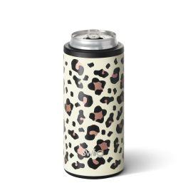 Swig 12oz Skinny Can Cooler - Luxury Leopard