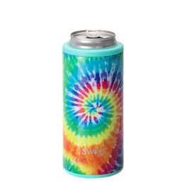 Swig 12oz Skinny Can Cooler - Swirled Peace