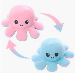 Double-Sided Flip Reversible Mood Octopus Plush Toy