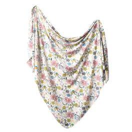 Knit Swaddle Blanket - Olive