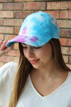 Pastel Tie-Dye Ball Cap