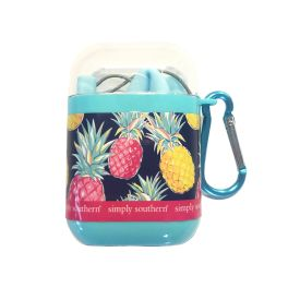 Simply Southern Silicone Travel Straw - Pineapple