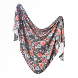 Knit Swaddle Blanket - Poppy