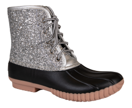 Simply Southern Glitter Boot - Silver