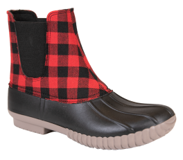 Simply Southern Plaid Boots - Red
