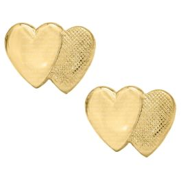 Kids 14K Gold Filled Double Heart Safety Earrings
