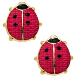 Kids 14K Gold Filled Ladybug Safety Earrings