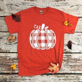 Buffalo Plaid Pumpkin Tee