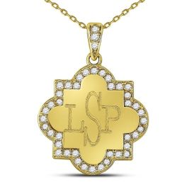 Sterling Silver Quatrefoil Necklace - Gold Plated