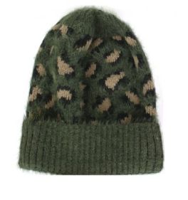 Just Warming Up Leopard Beanie - Army