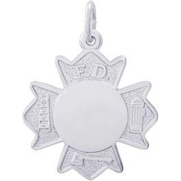 Fireman Badge Charm - Rembrandt