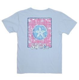 Southern Fried Cotton Gingham Sand Dollar T-Shirt - YOUTH