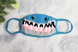 Toddler Face Mask - Blue Shark