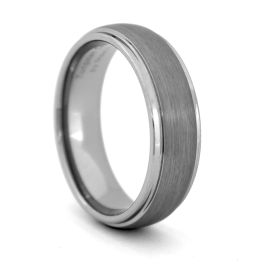 Men's Comfort Fit Tungsten Carbide Wedding Band - 7MM