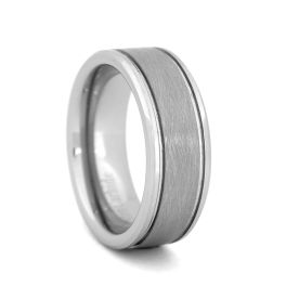 Men's Comfort Fit Tungsten Carbide Wedding Band - 8MM