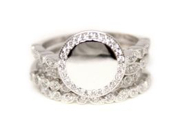 Sterling Silver Stackable Ring With CZ