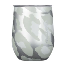 Corkcicle 12oz Stemless - Snow Leopard