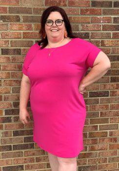 Dream Come True Plus Dress - Hot Pink