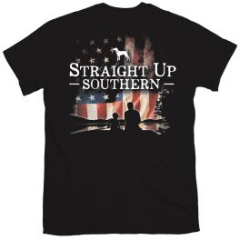 Straight Up Southern Patriotic Fishing T-Shirt - YOUTH