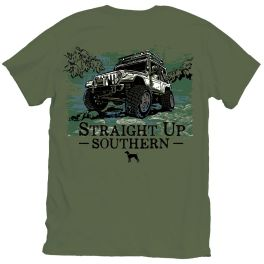 Straight Up Southern Chartless Jeep T-Shirt