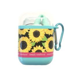 Simply Southern Silicone Travel Straw - Sunflower