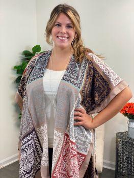 Keep It Darling Kimono - Taupe