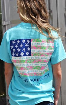 Simply Southern Tropical Flag T-Shirt