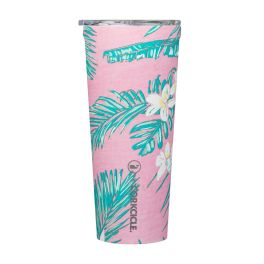Corkcicle Vineyard Vines 24oz Tumbler - Pink Tropical Flowers