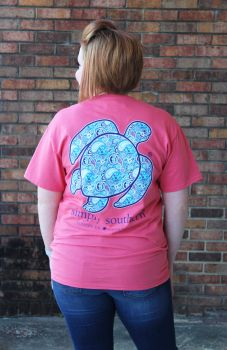 Simply Southern Save The Turtles Paisley Pocket T-Shirt