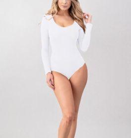 Secret Crush Bodysuit - White