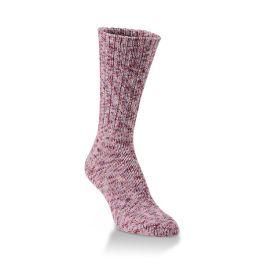 World's Softest Ribbed Leg Ragg Crew Socks - Adobe Rose