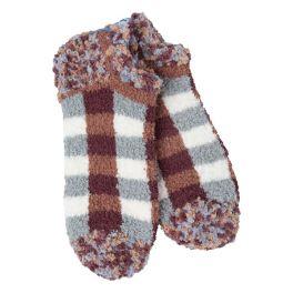 World's Softest Cozy Low Socks - Woods Plaid
