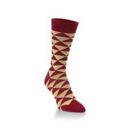 World's Softest Diamond Crew Socks - Garnet & Gold