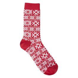World's Softest Gallery XOXO Crew Socks - Red Hot