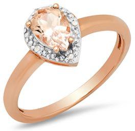 Ladies 10Kt Rose Gold Pear Shaped Morganite Ring