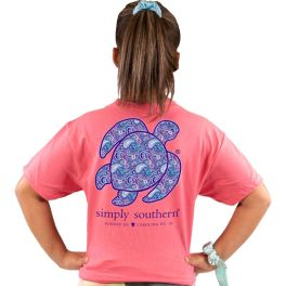 Simply Southern Save The Turtles Paisley T-Shirt - YOUTH